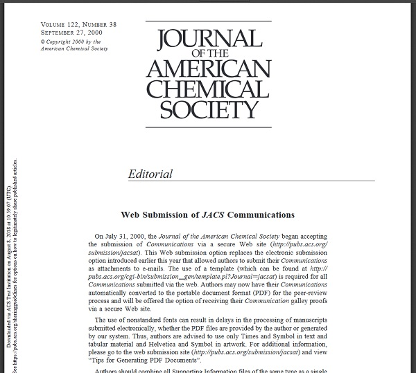 JACS History 140 Years Of